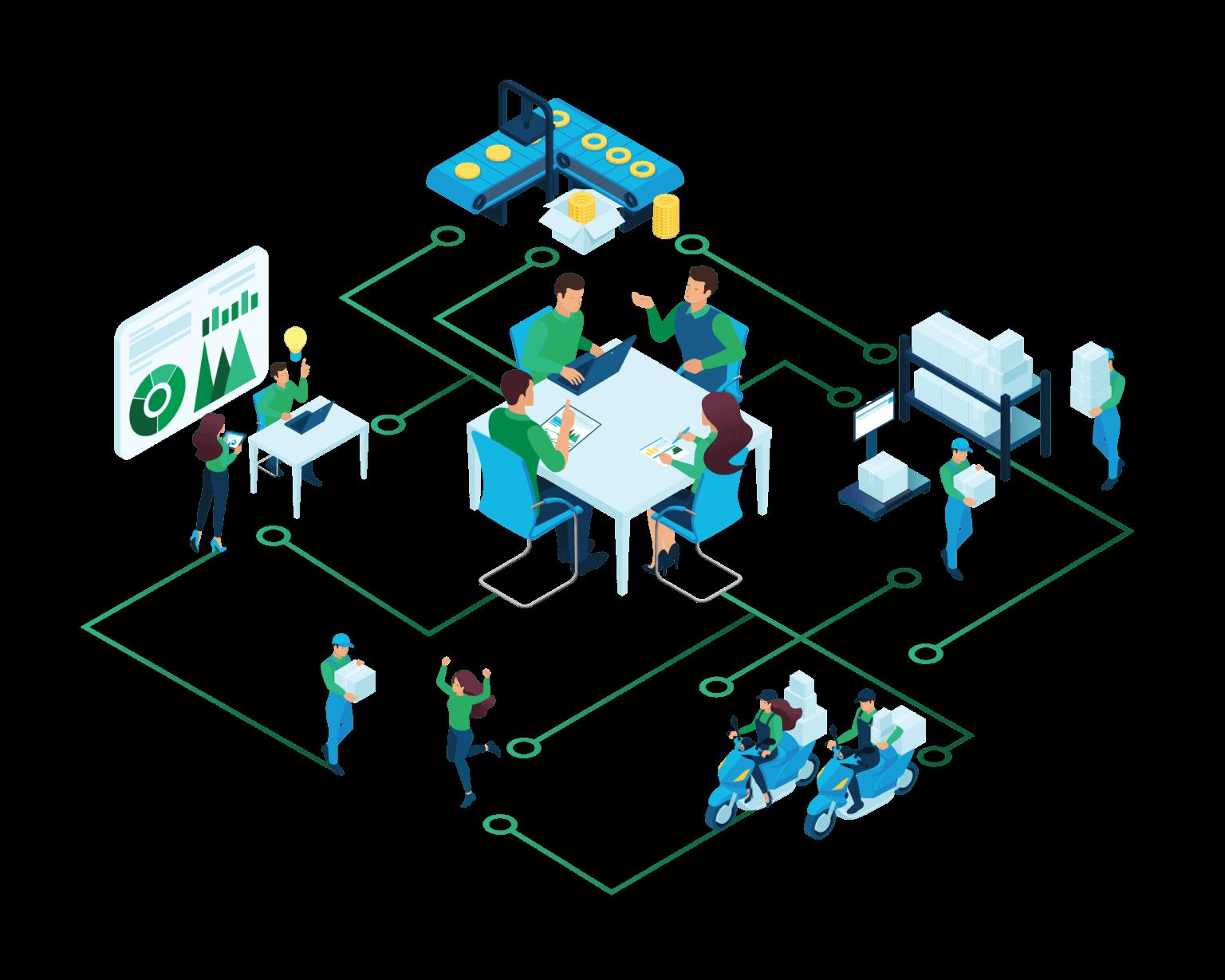 Business process management software - web based collaboration platform