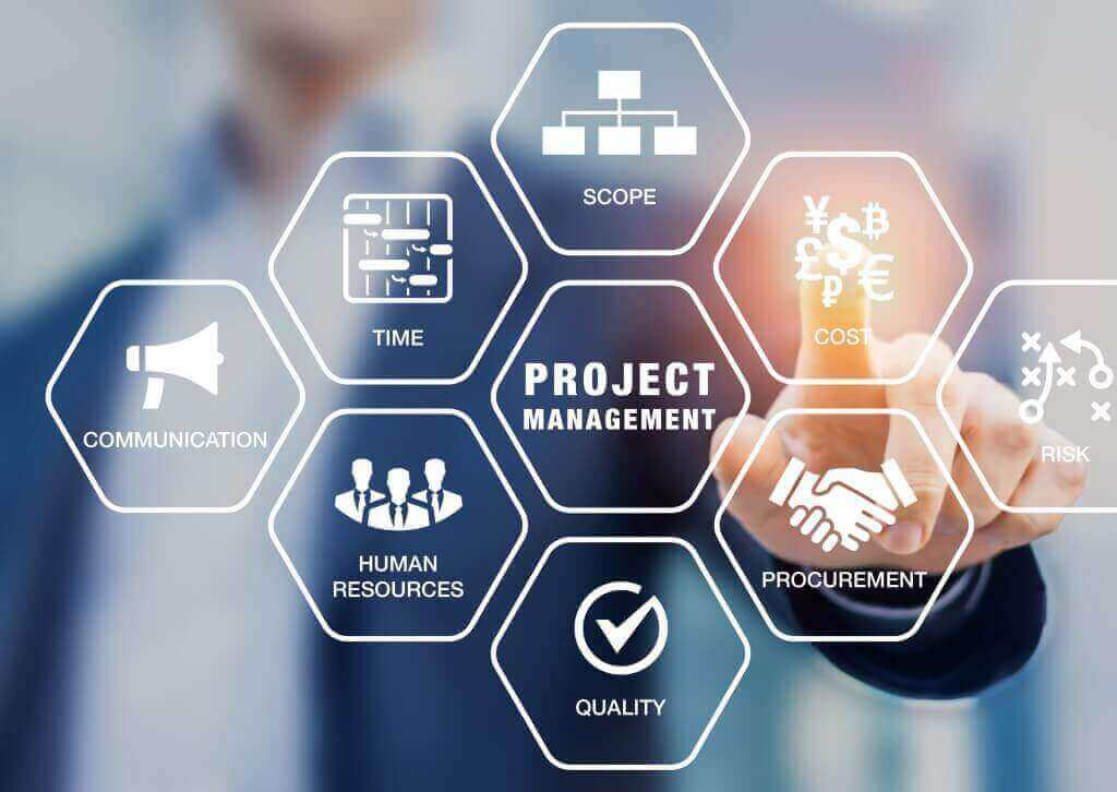 InteractPM - man touching project management toolset