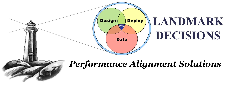 Landmark logo - Design, Deploy, Data - Performance Alignment Solutions