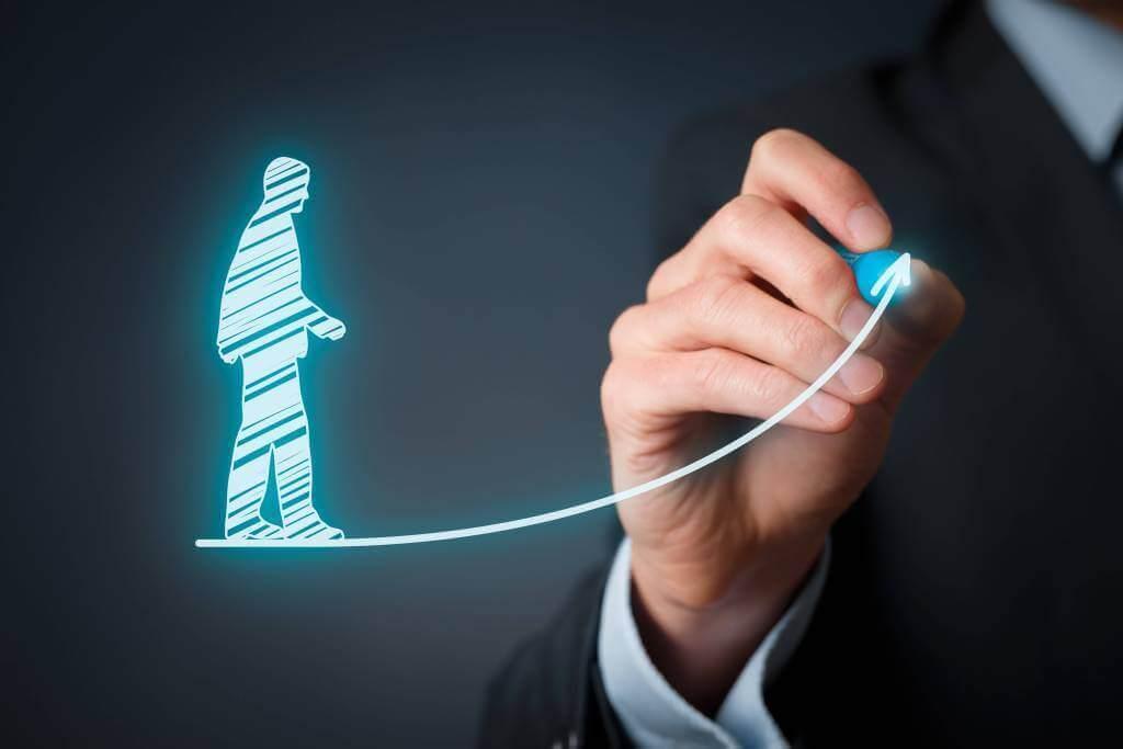 Man drawing - agent evaluation tools and mentorinhg program